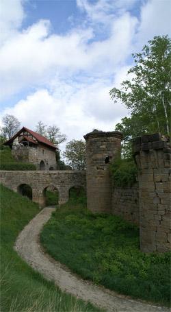 Burgraben mit Zugang