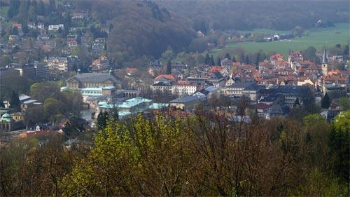 Blick auf Bad Kissingen