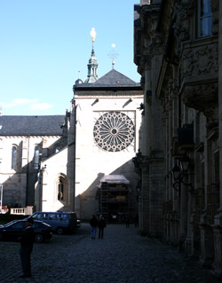 Fensterrossete des westlichen Kirchenschiffs