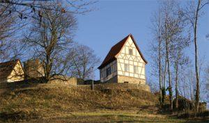 Stadtansicht auf die Burg Königsberg