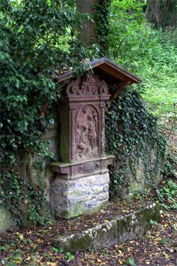 Bildstock, Eingangsbereich zurBurgruine Karlburg